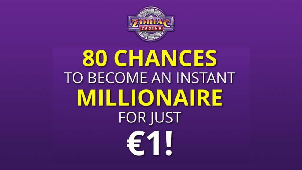 zodiac casino free spins