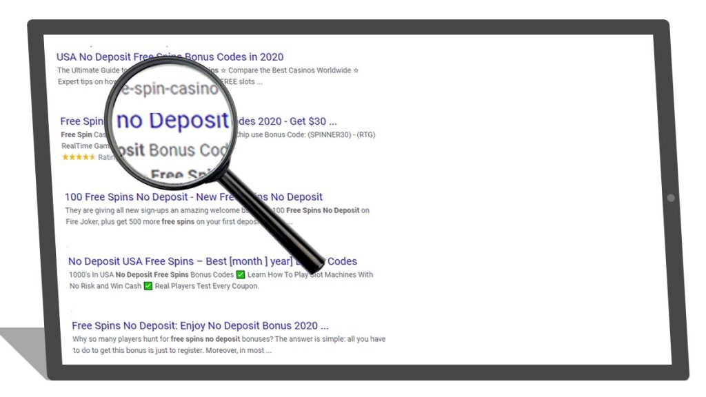 search for no deposit bonuses simulation